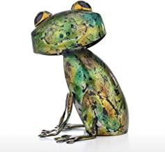 Tooarts Frog Sculpture Modern Iron Ornament Fun Art Decor Handmade Craft Shelf and Desk Decoration Home Decor Colorful
