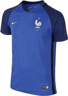 FFF YTH SS HM Stadium JSY - Camiseta de manga corta de la línea Selección de fútbol de Francia, Unisex