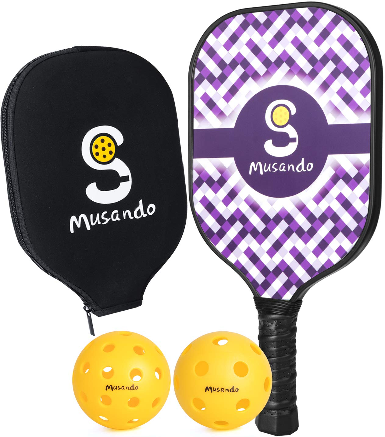 Musando Pickleball Paddle - USAPA Approved Graphite Lightwei