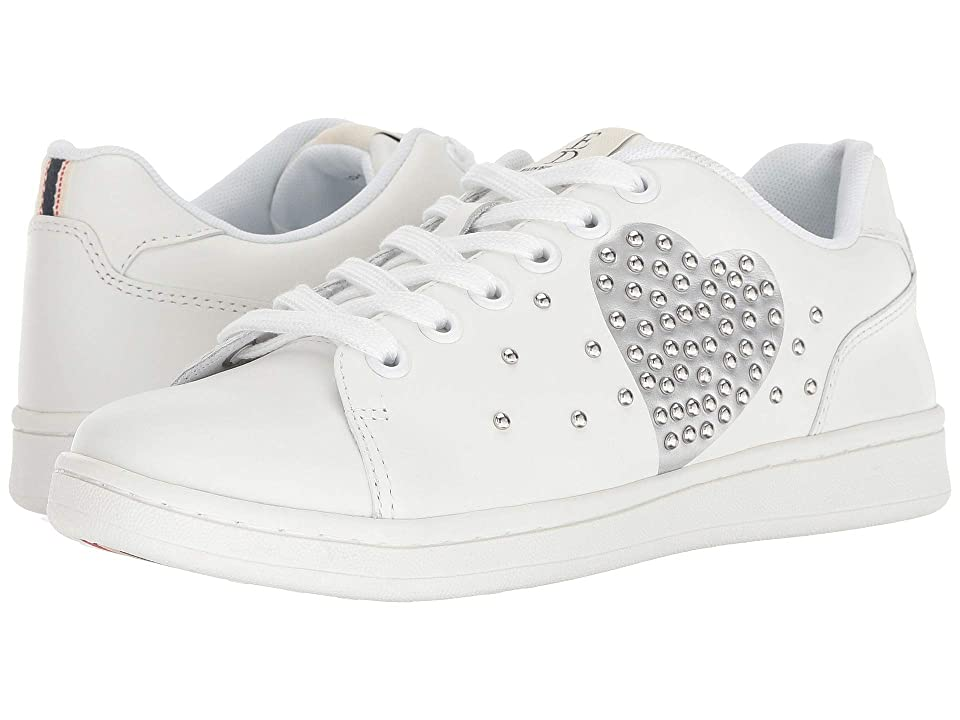 ED Ellen DeGeneres Chamour Sneaker (White/Silver) Women