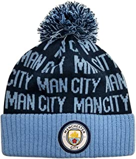 Details about  /Manchester City Hat Pom bobble Maroon Blue White Beanie Bronx hats