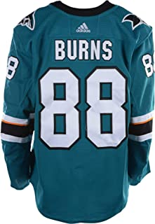 5e3c06af3 Brent Burns San Jose Sharks Game-Used  88 Teal Jersey with All-Star