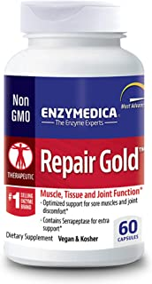 Enzymedica, Repair Gold, Enzyme Supplement to Support Healthy Muscles, Tissue and Joints, Includes Serrapeptase, Vegan, 60...