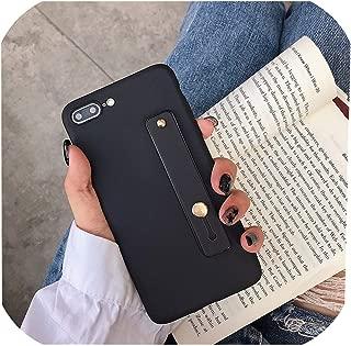 高級ブラケットケースHuawei P8 P9 P10 P20 P30 Lite Mate 9 10 20 Pro Mate20X Nova 3E 4E P20Pro P30Proリストストラップ電話カバー、Huawei Mate10Pro、ブラック