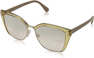 6d14ca7482 Prada 0PR 56TS Gafas de sol, Transparente Brown/Pink Gold, 57 para Mujer