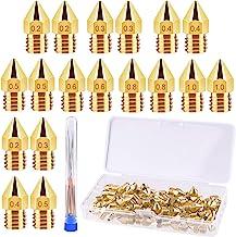 TUPARKA 70Pcs 3D Printer Nozzle Kit MK8 Extruder Nozzles Brass Print Head 0.2mm, 0.3mm, 0.4mm, 0.5mm, 0.6mm, 0.8mm, 1.0mm ...