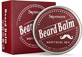 Skymore Beard Balm Natural, Cream Beard Care, Moisturizer Growth Mustaches, Leave-In Conditioner & Softener For Men, Best Facial Hair Grooming, All Hair Types ---Perfect Gift For Father's Day