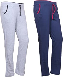 IndiWeaves Women's Cotton Trackpants Pack of 2 (73200-2021-IW-P2_Multicolor_)