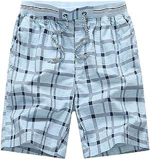 Mens Shorts Big /& Tall Plus Size Summer Casual Athletic Sports Lattice Print Drawstring Loose Beach Short Pants Trunks 4XL