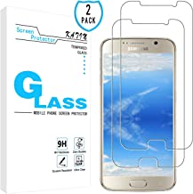 KATIN Galaxy S6 Screen Protector - [2-Pack] for Samsung Galaxy S6 Tempered Glass Screen Protector 9H Hardness with Lifetime Replacement Warranty