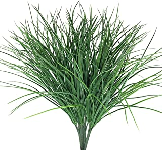 Antspirit 4pcs Artificial Fake Grass Plants Flowers Faux Plastic Wheat Grass Outdoor UV Resistant Greenery Shrubs Plant fo...