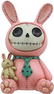 Ebros Furrybones Pink Bunny Voodoo Skeleton Money Bank Statue 6