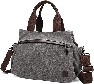 JOSEKO Damen Hobo Tasche, JOSEKO Frau Segeltuch Tote Handtaschen Jahrgang Schulter Crossbody Taschen Grau