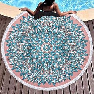 TEXTIL TARRAGO Toalla de Playa fouta hamman Flat 90x170 cm 100/% Algodon Egipcio Mandala Turquesa FAC16