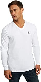 Psycho Bunny Mens Long Sleeve V Neck Tee