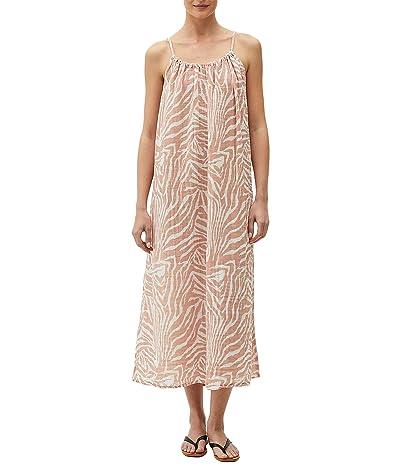 Michael Stars Naomi Zebra Print Double Gauze Front To Back Dress