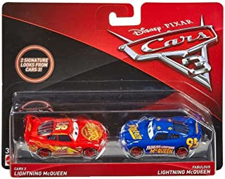 Disney/Pixar Cars 3 Lightning McQueen and Fabulous Lightning McQueen Die-Cast Vehicles