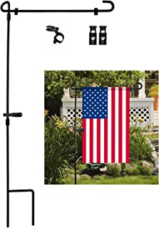 Garden Flag Stand, Premium Garden Flag Pole Holder Metal...