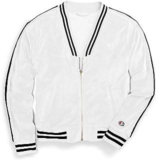CHAMPION Womens White Striped Zip Up Active Wear Jacket US Size: XL