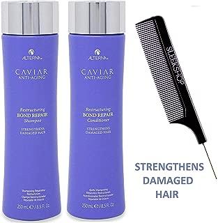 Alterna Caviar Anti Aging RESTRUCTURING BOND REPAIR Shampoo & Conditioner DUO SET, Strengthens DAMAGED HAIR (Stylist Kit) (8.5 oz / 250 ml - ORIGINAL SIZES)