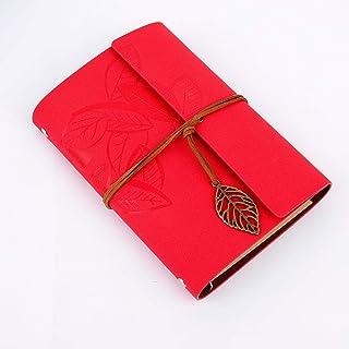 comprar comparacion Diario de Viaje Retro Cubierta de Cuero de la PU Cuaderno Agenda con Páginas en Blanco y Colgantes Regalos Originales de N...