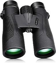 SkyGenius 10x42 Binoculars for Bird Watching, Antifog Waterproof Binoculars for Adults, Bak-4 Roof Prism Quick Focus HD Binoculars for Sporting Event Sightseeing with Strip