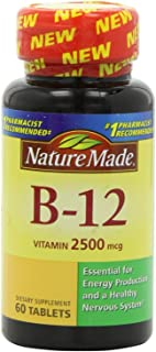 Nature Made Vitamin B-12 Tablets, 2500 Mcg, 60 CT (PACK OF 2)