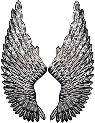 Maisonica 37cm Antique Copper Angel Wings Wall Mounted Decorative Hanging Art