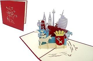 POP UP Karte Grußkarten Bremen Reisegutschein Geburtstag Karten Bremen skyline Nr.222