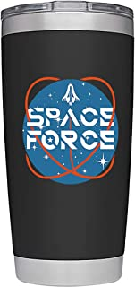 Space Force Trump Mug: Large 20 Ounce Stainless Steel Travel Tumbler/Mug with Sliding Lid for Coffee or Cold Drinks, SpaceForce Nasa, Maga Gag by Globodyne Tumblers