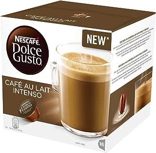 Nestlé Nescafe Dolce Gusto Coffee Pods - Intense Café au Lait Flavor - Choose Quantity (1 Pack (16 Capsules))
