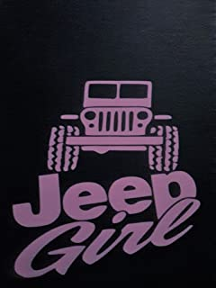 Girl Jeep Country Girl 4X4 Off Road Vinyl Decal Sticker PINK Cars Trucks SUV Laptops Tool Box Wall Art 5
