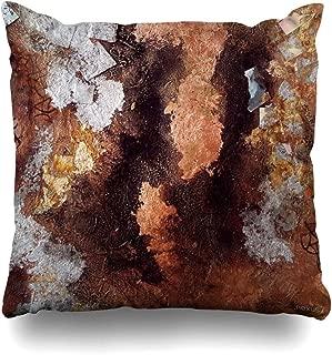 Ahawoso Throw Pillow Cover Square 20x20 Inches Copper and Silver Decorative Pillow Case Home Decor Pillowcase
