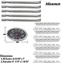 Hisencn Replacement Reapir Kit for Charmglow 720-0234, Nexgrill 720-0033, 720-0234, 720-0289 Kirkland 720-0025 Gas Grill Models, Heat Plate Shield Tent Flame Tamer, Burner Tube and Temp Gauge