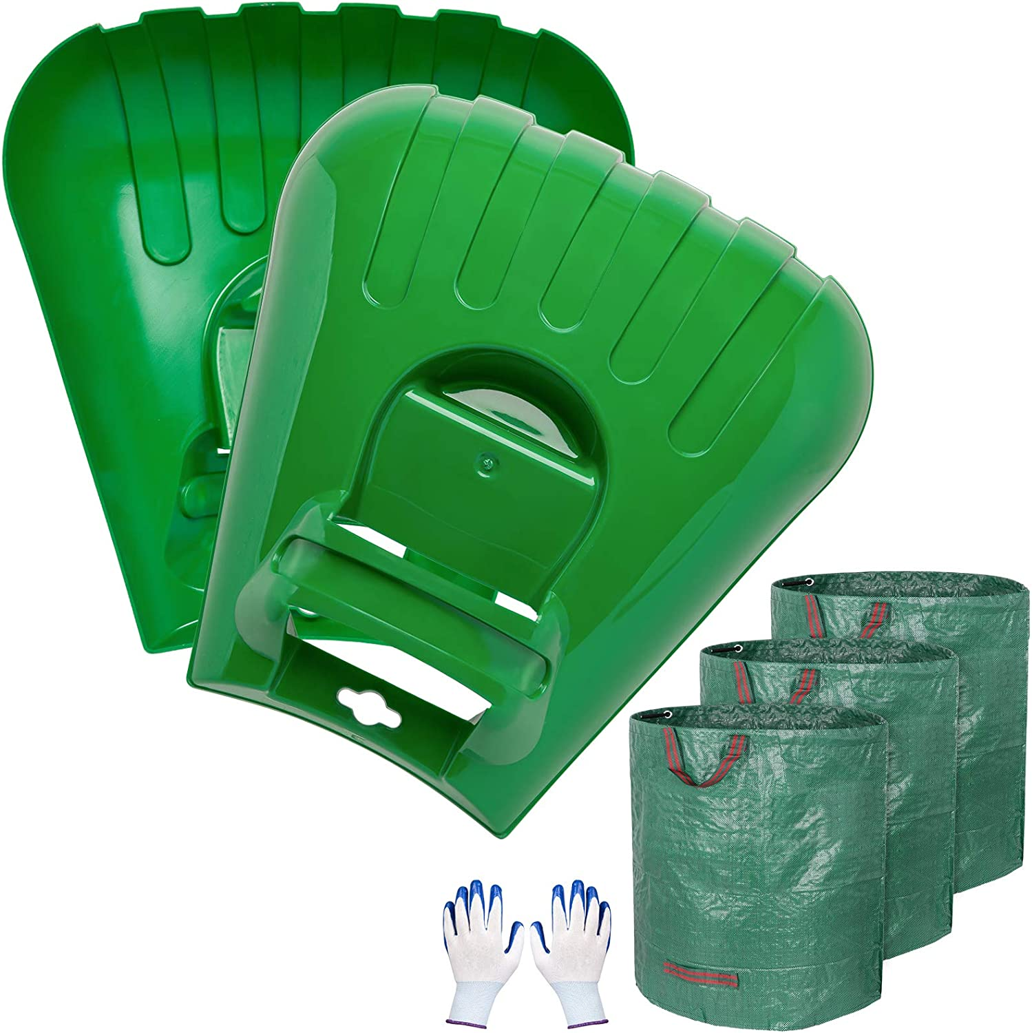 Decorlife 2-Pack Leaf Scoops In a popularity 3-Pack 72 Yard GA Clearance SALE Limited time Waste Comb Bags