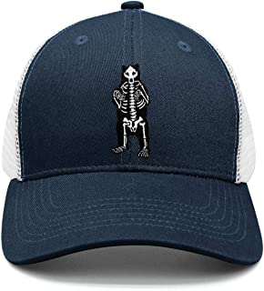 Maine Black Bear Skeleton Unisex Classic Mesh Trucker Cap Low Profile Snapback hat Sport Cap One Size