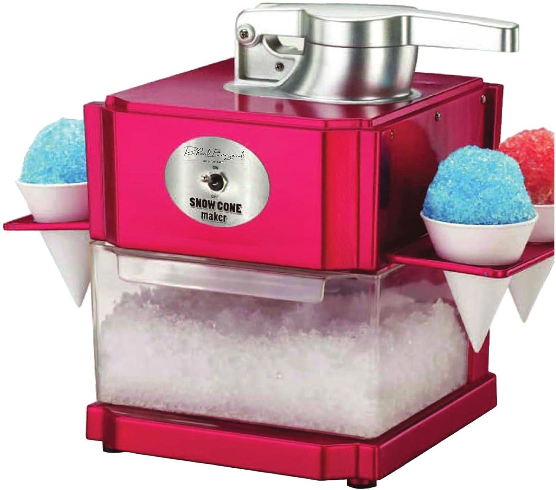 CF HomeEdition Snowcone/Slushie Maker, Eiscrusher, Geraspeltes Eis mit 4 Eisbechern und..