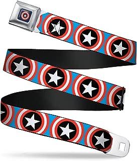 Seatbelt Belt - Captain America Shield Repeat Blue - 1.5