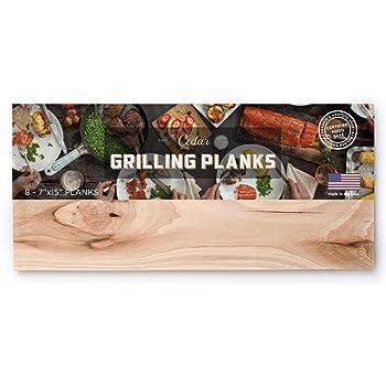 Western Red Cedar Grilling Planks - 8 Pack (Large)