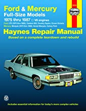 Ford LTD & Mercury Marquis (75-82), Ford Custom 500, Country Squire, Crown Victoria & Mercury Colony Park (75-87), Ford LTD Crown Victoria & Mercury ... Haynes Repair Manual (Haynes Repair Manuals)