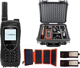 Iridium 9575 Extreme Satellite Phone Emergency Responder Package with Pelican Case, Solar Charger, Desktop Charging Dock and Blank Prepaid SIM Card Ready for Easy Online Activation