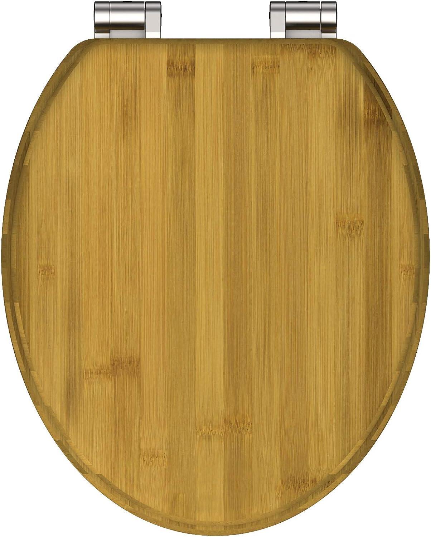 SCHüTTE 81001 Dark Bamboo Toilet Seat