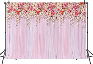 Sensfun Bridal Shower Large Wedding Floral Backdrop Curtain Pink Rose 3D Flowers Party Decoration Background for Photography Studio Photo Booth Props 7x5ft