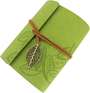 Dernord Vintage PU Kunst Leder Skizzenbücher Loose Leaf String Notizbuch, blanko, Notizblock Tagebuch Geschenk lichtgrün B018X66C86  Zu einem niedrigeren Preis
