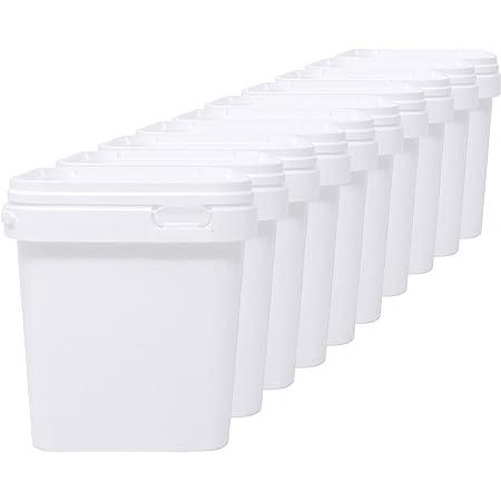 LG Luxury & Grace Lot de 10 Seau en Polypropylène Alimentaire, 2,5 L (18x16 cm). Recyclabes, 100% Libres de BPA.