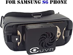 Samsung Gear VR Fan Cooling & Charging Cover ( CUVR Ultimate ) Compatible with SM-R323 - SM-R322 (Black - S6)