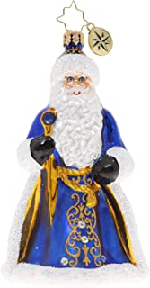 Christopher Radko Hand-Crafted European Glass Christmas Ornament, Looking Royal in Blue