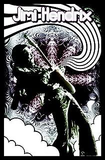 Pyramid America Jimi Hendrix-Guitar Solo, Music Blacklight Poster Print, 23 by 35-Inch