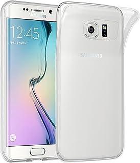 Cadorabo Funda para Samsung Galaxy S6 Edge en Transparente – Cubierta Proteccíon de Silicona TPU Delgada e Flexible con Antichoque – Gel Case Cover Carcasa Ligera