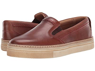 Lucchese After-Ride Slip-On (Brown Burnished) Women